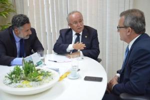 Visita aconteceu no Gabinete da Presidência