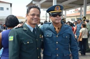 Capitão Samuel Barreto com Sérgio Freire