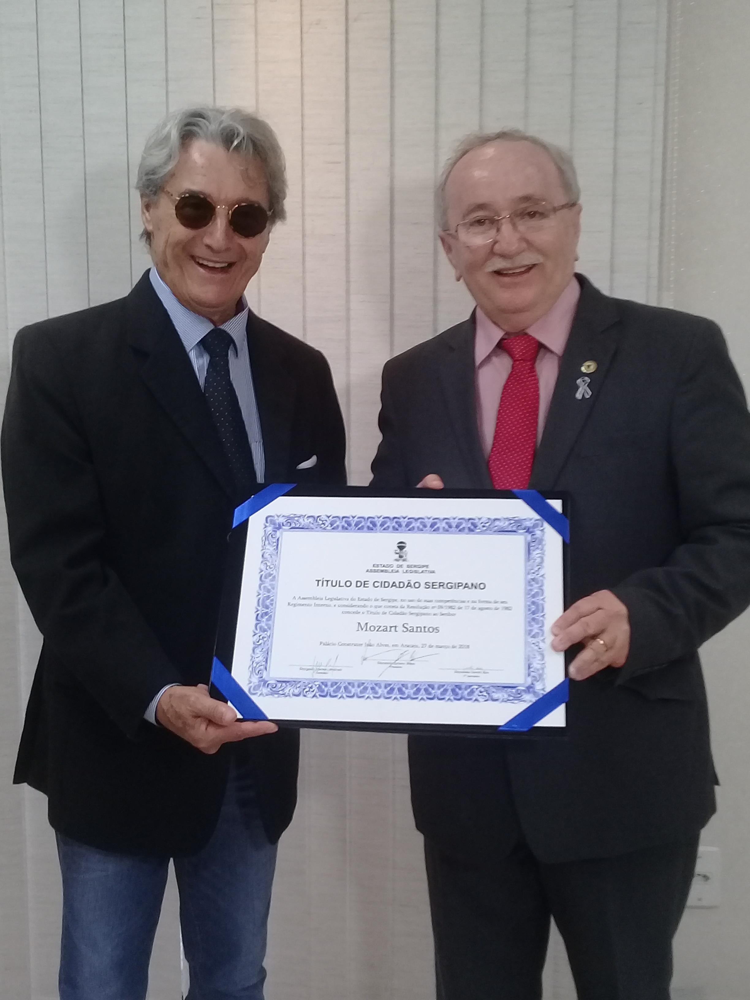 Mozart Santos é o mais novo sergipano – Assembleia Legislativa de Sergipe