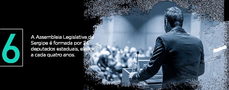 A Assembleia Legislativa de Sergipe é formada por 24 deputados estaduais, eleitos a cada quatro anos.