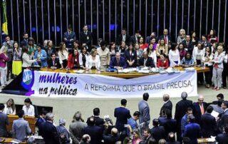 Câmara Federal lança curso para candidaturas de mulheres.